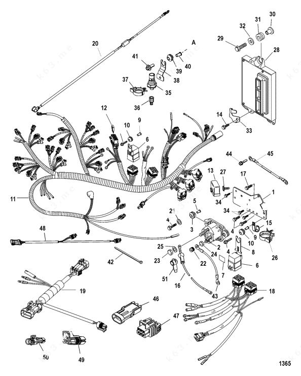 Mercury/Mariner 200 3.0l EFI, Solenoid Plate Serial Number