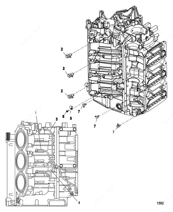 Mercury/Mariner 225 3.0l EFI, Starboard Bleed System