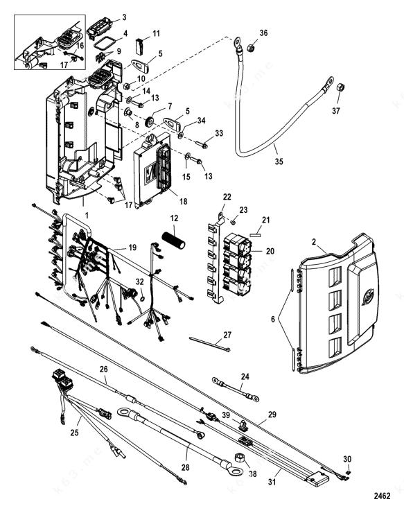 Mercury/Mariner 225 Verado 4-Stroke 6 Cyl., Electrical Box