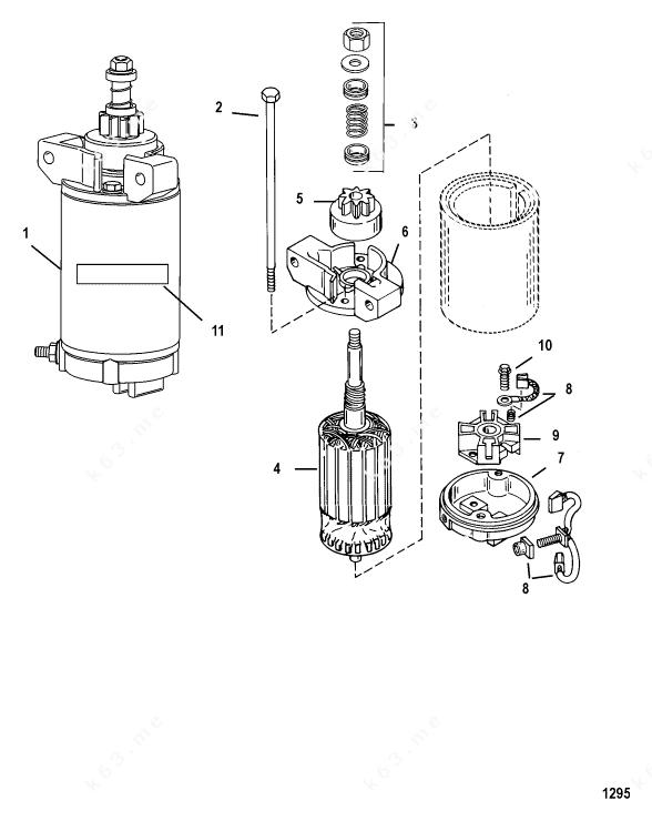 Mercury/Mariner 50 EFI 4 Cyl. 4-Stroke, Starter Motor USA