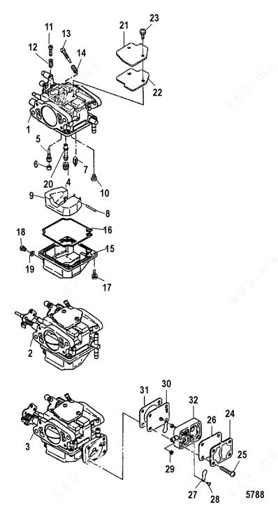 Mercury/Mariner 40 Lightning XR International, Carburetor