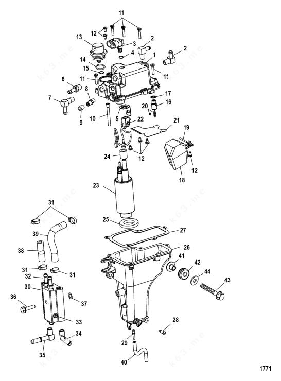 Mercury/Mariner 50 EFI 4 Cyl. 4-Stroke, Vapor Separator