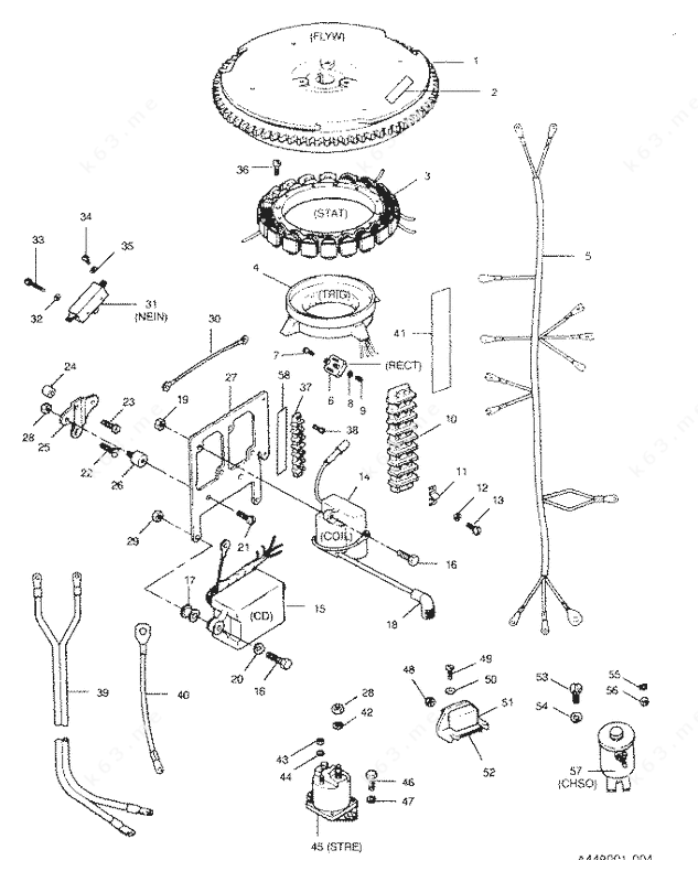 Mercury/Mariner 50 H.P. 1991, Electrical Components