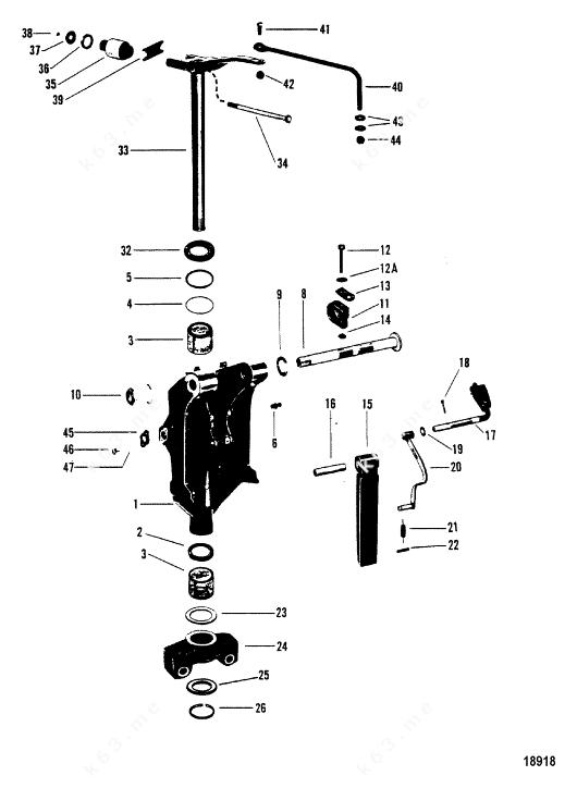 Mercury/Mariner V-150, Swivel brackets/N-USA-5503246/AUS