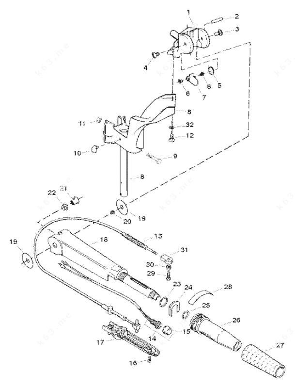 Sears 9.9 H.P. 1998 W/6.6 Gallon Remote Tank, Steering