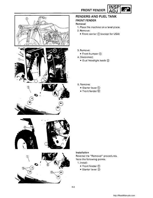 1992-1995 Yamaha Timberwolf 2WD Factory Service Manual