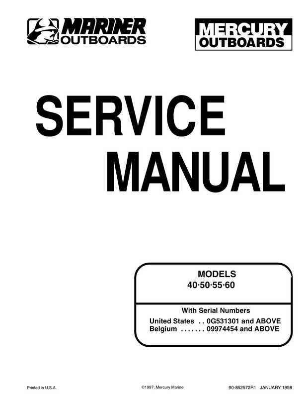 Mercury Mariner Outboard 40/50/55/60 2-stroke Service