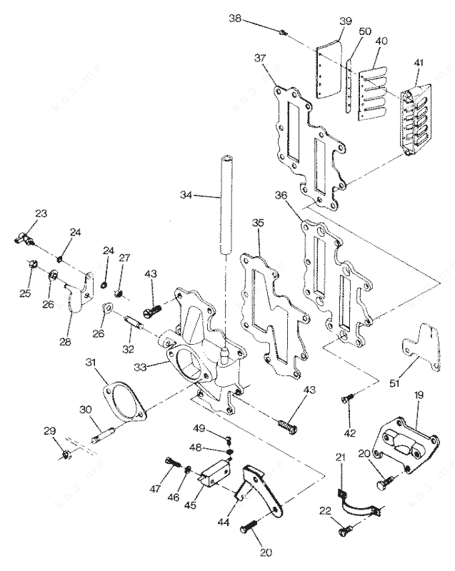 1987 Mercury Lower Unit Parts Diagram. Mercury. Auto