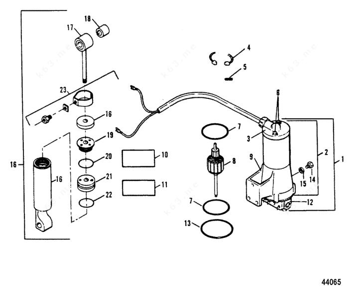 Mercury Force 90 H.P. 1991-1992, Tilt Cylinder / Motor