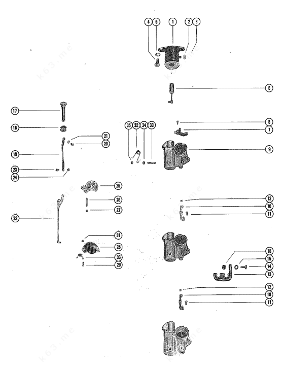 Mercury/Mariner 1150, Carburetor Linkage and Choke