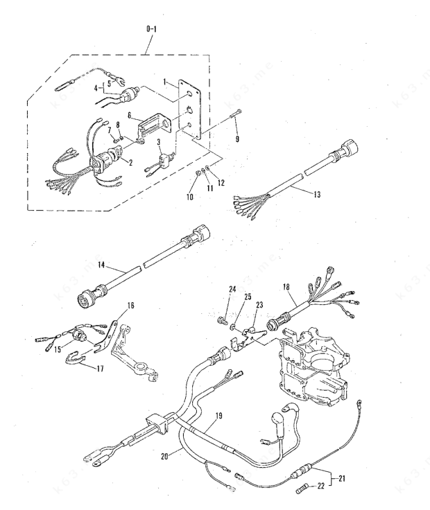 Mercury/Mariner 60 2 Cyl., Electric Start Components