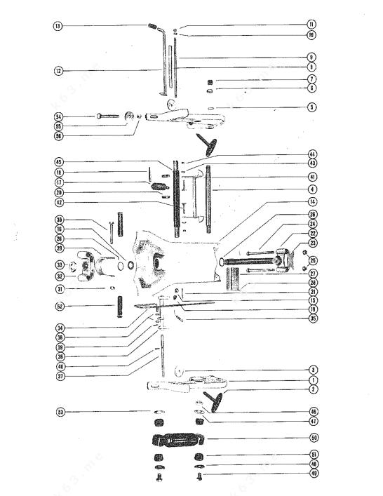 Mercury/Mariner 800 6 Cyl., Clamp and Swivel Bracket