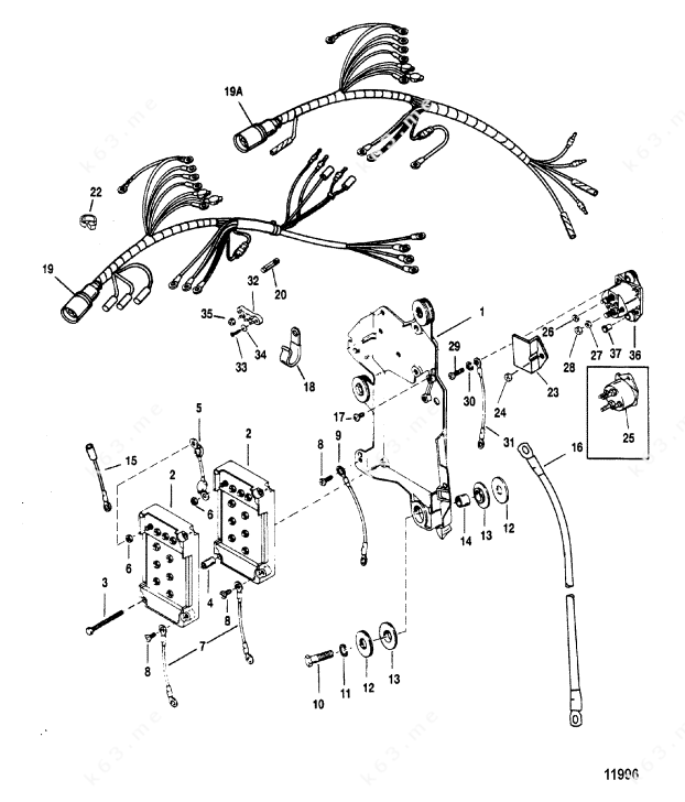 wiring harness johnson outboard