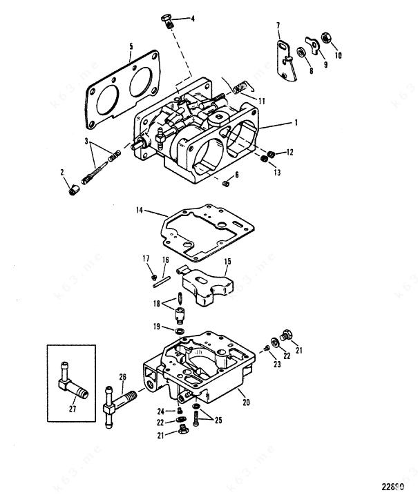Mercury/Mariner V-200, Carburetor WMH 12A/12B/13/13B/14A