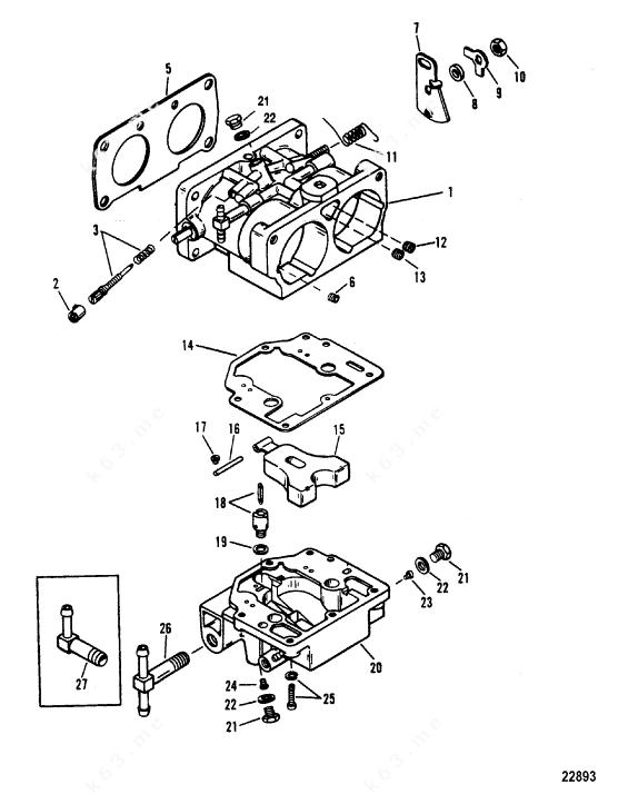 Mercury/Mariner XR-6, Carburetor WMH-21/22/23/24/25/28