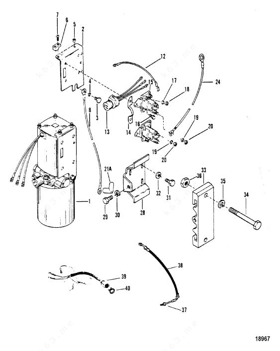 Mercury/Mariner V-175, Hydraulic Pump and Mounting