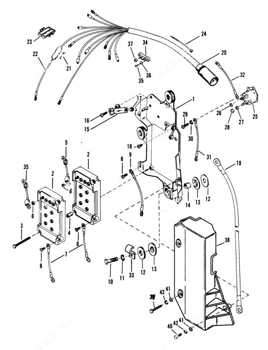 Mercury/Mariner V-175 Ski, Wiring Harness/Starter Solenoid