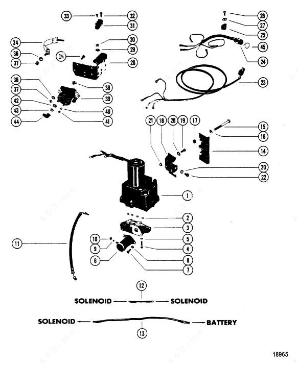 Mercury/Mariner V-150, Hydraulic Pump brackets/N-5432021