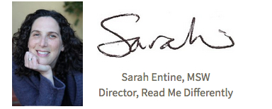 Sarah's signature and headshot
