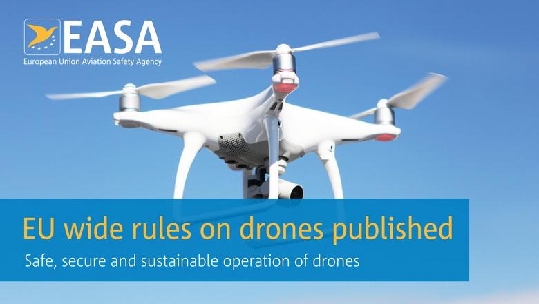 Евросоюз вводит первые в мире правила пользования дронами