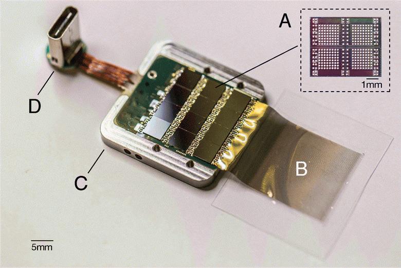 Чип, усиливающий сигналы и отправляющий их компьютеру Neuralink