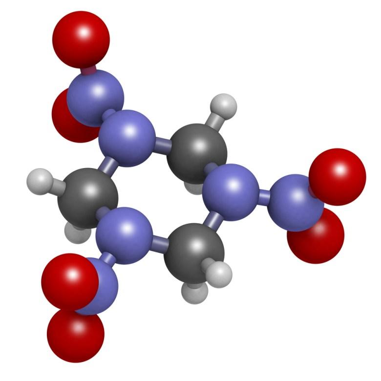 Молекула гексогена