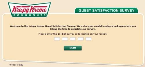Krispy Kreme Listens Customer Satisfaction Survey