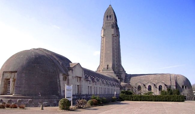The Douaumont Ossuary, Battle of Verdun memorial in France