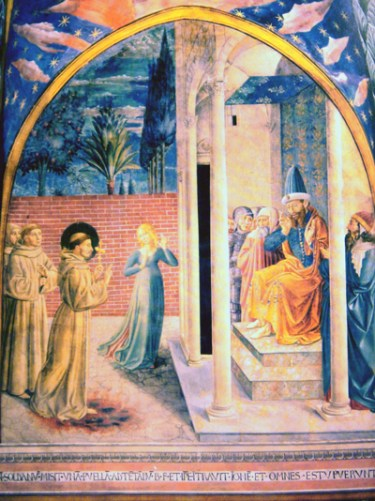 Painting of St. Francis and al-Kamil