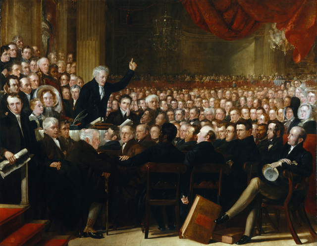 The Anti-Slavery Society Convention, 1840 painting by Benjamin Robert Haydon