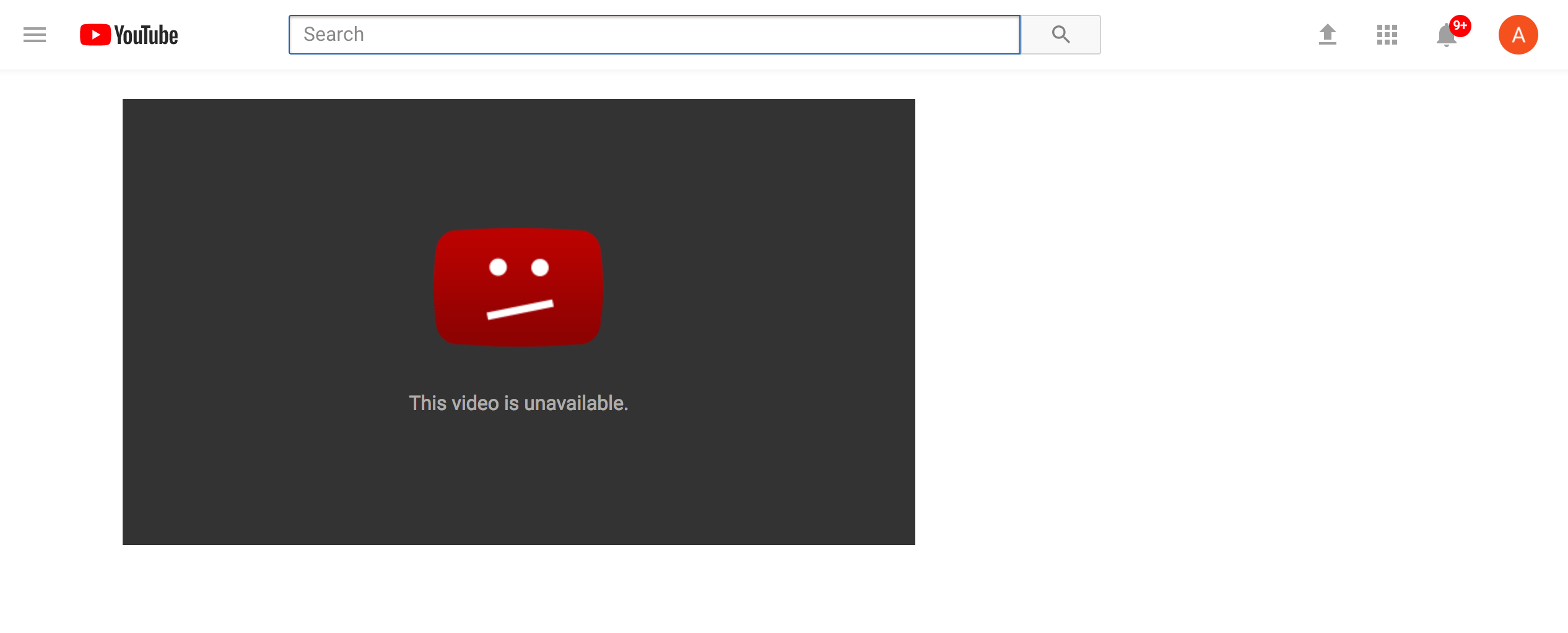 """https://www.youtube.com/watch?v=XCp7O """"This Video is Unavailable"""""""