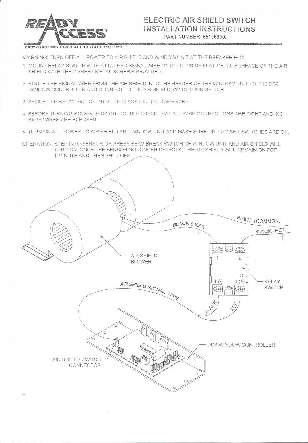 medium resolution of fly fan switch electric window installation