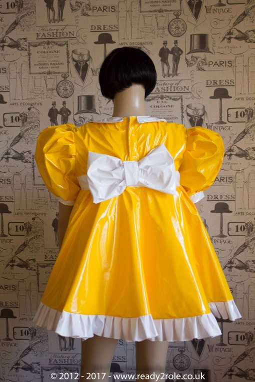 Sissy Baby Doll Dress Yellow PVC by Ready2Role