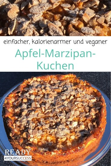 Einfacher Apfel Marzipan Kuchen Ready4yourtopfigure