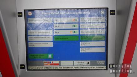 Automat na stacji S-Bahn w Berlinie