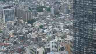 Tokio Japonia - ulice miasta, widok z Government Building