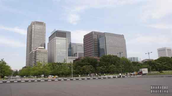 Tokio Japonia - widok na wieżowce w centrum Tokio