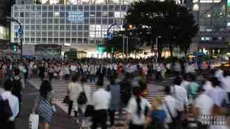 Tokio Japonia - Shibuya skrzyżowanie