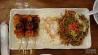 Japonia, tsukune z ryżem