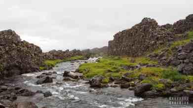 Wodospad Oxararfoss, Park Narodowy Thingvellir, Golden Circle - Islandia
