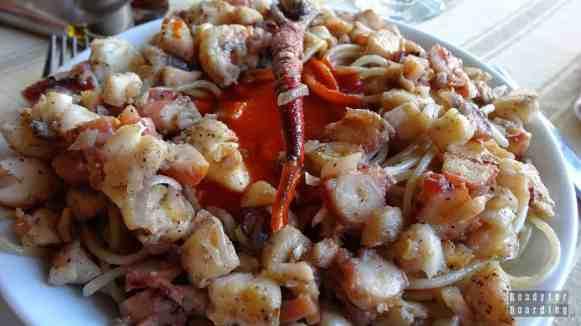 Owoce morza w restauracji w Vinales, Kuba