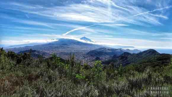 Teneryfa - Góry Anaga, widok na Teide