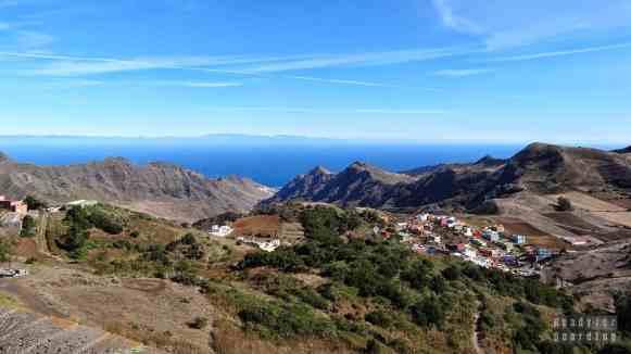 Teneryfa - Góry Anaga, widok na Gran Canaria