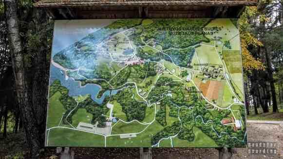 Mapa skansenu w Rumszyszkach