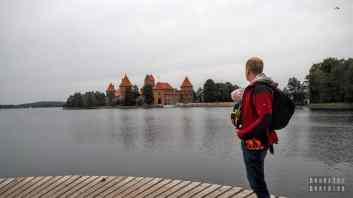 Zamek w Trokach nad jeziorem Galwe - Litwa
