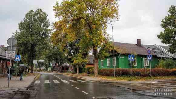 Karaimskie domy z trzema oknami w Trokach, Litwa