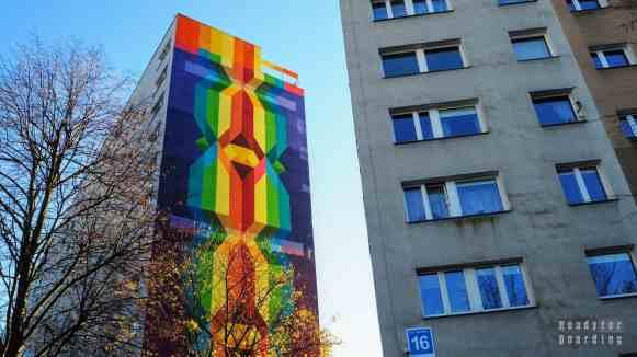 Wspomnienia z bursztynu, D. Petroni - Murale na Osiedlu Zaspa