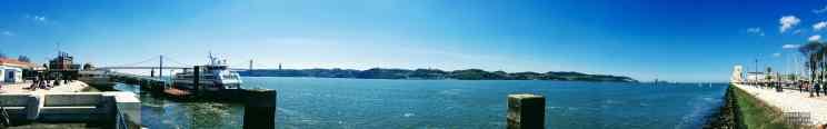 Widok na rzekę Tag, Lizbona