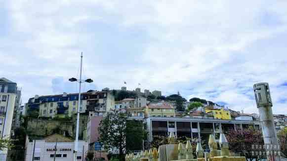 Widok na zamek, Lizbona