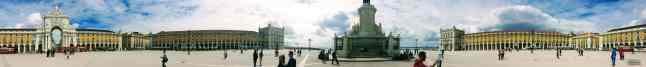 Praca do Comercio - Panorama, Lizbona